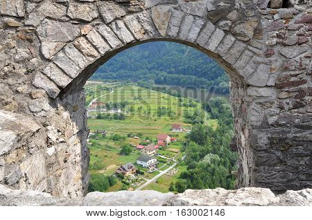 Strecno - a ruin of a medieval castle in northern Slovakia