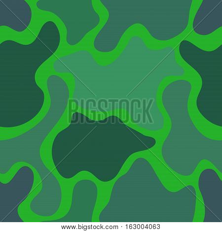 abstract vector chaotic spotted seamless pattern - green and teal