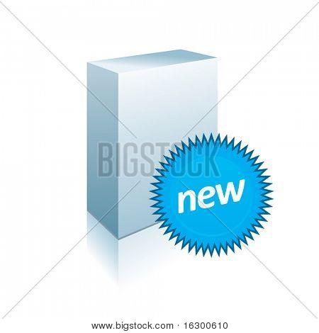 White-Box mit Aufkleber