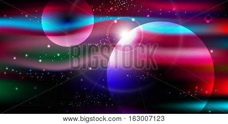 space background with stars nebula, milky way vector illustration eps 10