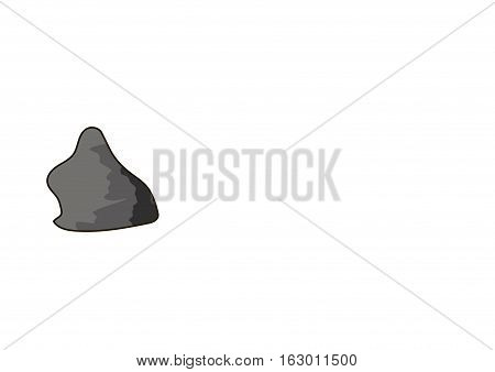 The gray stone on a white background.