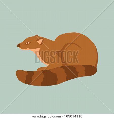 mongoose vector illustration style Flat profile side