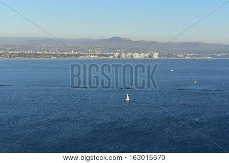 San Diego, California -  Usa - December 04, 2016: Point Loma San Diego Bay