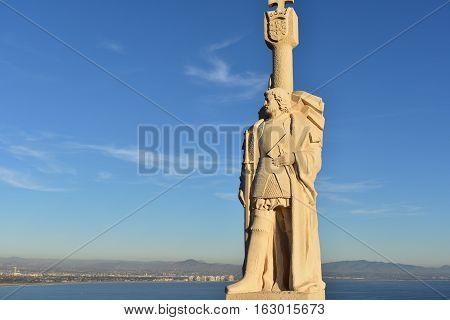 San Diego, California -  Usa - December 04, 2016: Point Loma Monument