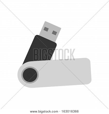 USB flash drive color icon. USB stick. Isolated vector illustration