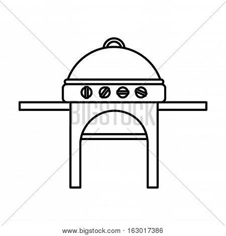 oven grill bbq icon vector illustration design
