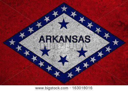 Graphic American State Grunge Flag Of Arkansas