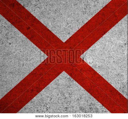 Graphic American State Grunge Flag Of Alabama