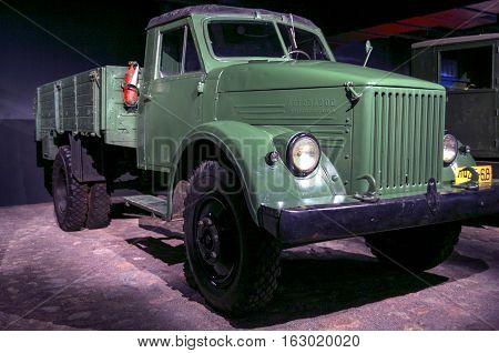 RIGA LATVIA - OCTOBER 16: Retro car of the year 1951 GAZ 51 Motor Museum October 16 2016 in Riga Latvia