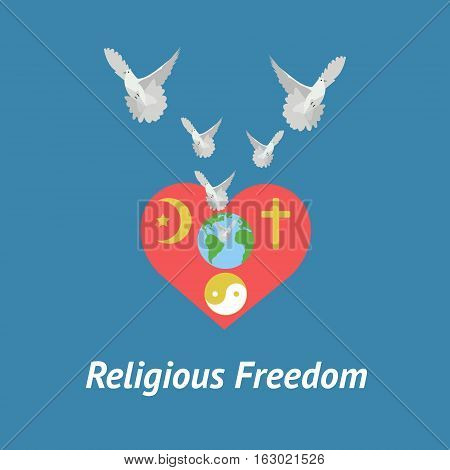 Illustration Of Religious Freedom Day