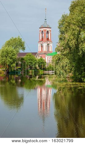 Bell tower of the Church of the Forty Martyrs on Trubezh river in Pereslavl Zalessky