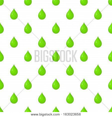 Green drop pattern. Cartoon illustration of green drop vector pattern for web