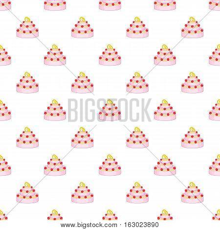 Wedding cake pattern. Cartoon illustration of wedding cake vector pattern for web