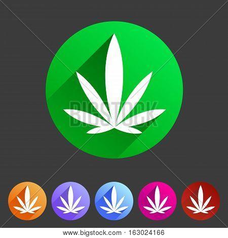 marijuana cannabis icon flat web sign symbol logo label
