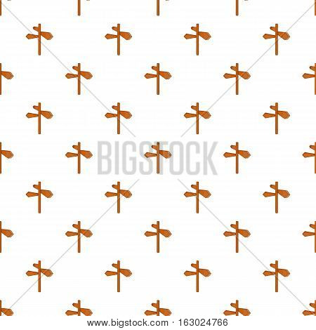 Direction signs pattern. Cartoon illustration of direction signs vector pattern for web