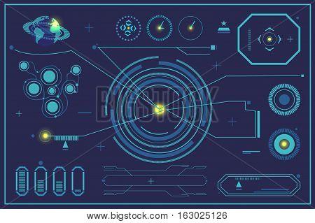 Sci Fi Futuristic User Interface Hud.