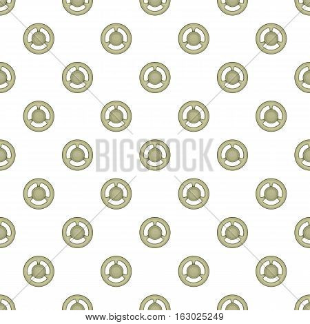 Steering wheel pattern. Cartoon illustration of steering wheel vector pattern for web
