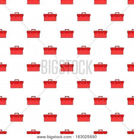 Red case pattern. Cartoon illustration of red case vector pattern for web