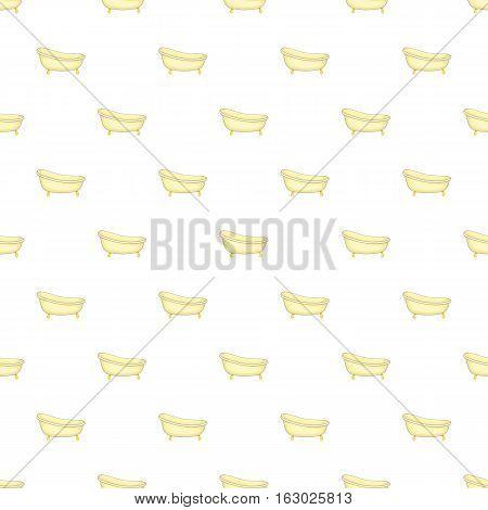 Bathtub pattern. Cartoon illustration of bathtub vector pattern for web