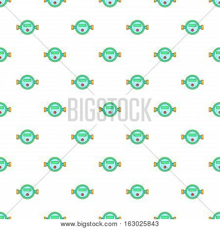 Water meter pattern. Cartoon illustration of water meter vector pattern for web