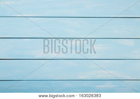 Blue colored wood background, Pastel wood background.
