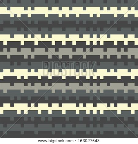 Abstract Texture Railways Striped Pixel Seamless Background Gray