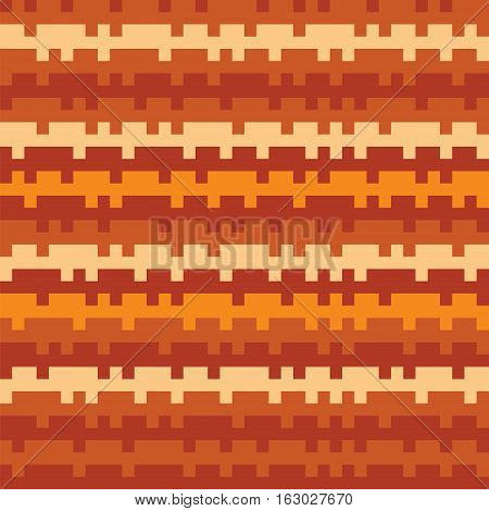 Abstract Texture Railways Striped Pixel Seamless Background Orange