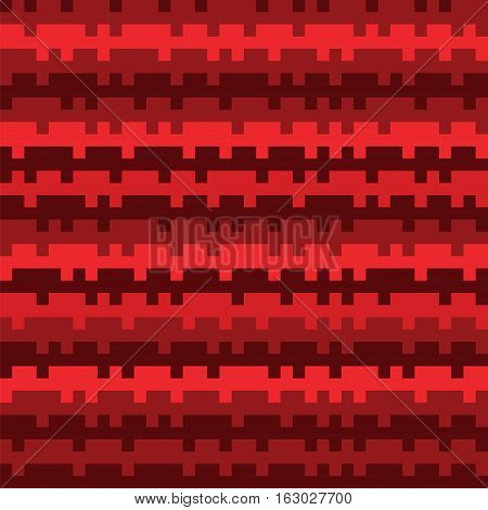 Abstract Texture Railways Striped Pixel Seamless Background Red