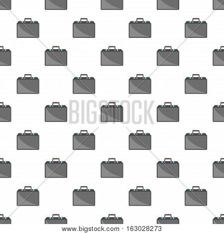 Business briefcase pattern. Cartoon illustration of business briefcase vector pattern for web