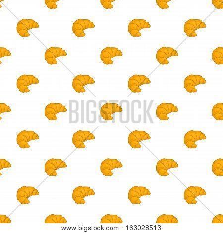 Croissant pattern. Cartoon illustration of croissant vector pattern for web