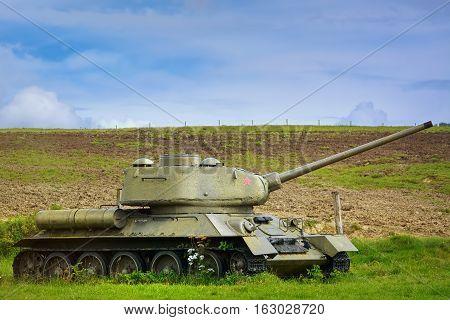 Tank On The Field