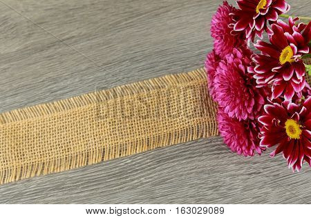 Dahlia flowers on wooden background pink dahlias