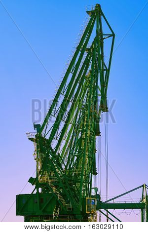 Image of Harbour Level Luffing Crane in Port