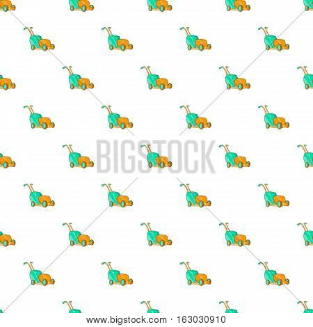 Lawnmower pattern. Cartoon illustration of lawnmower vector pattern for web