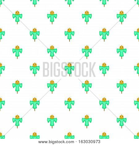 Scarecrow pattern. Cartoon illustration of scarecrow vector pattern for web