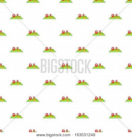 GPS marks on map pattern. Cartoon illustration of GPS marks on map vector pattern for web