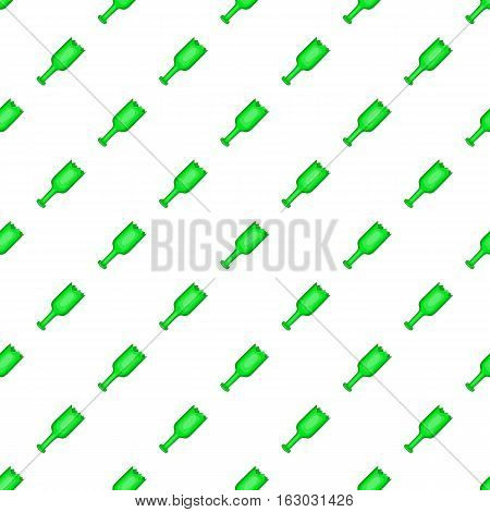 Broken bottle pattern. Cartoon illustration of broken bottle vector pattern for web