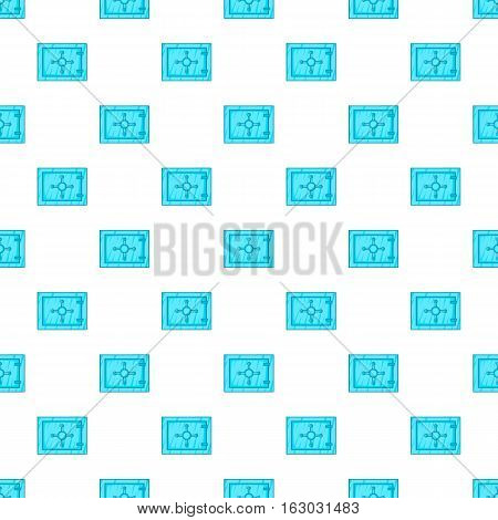 Safety deposit box pattern. Cartoon illustration of safety deposit box vector pattern for web