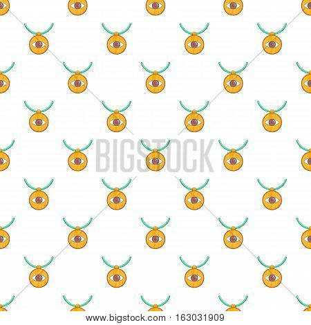 Third eye amulet pattern. Cartoon illustration of third eye amulet vector pattern for web