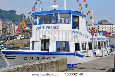 Honfleur France - august 18 2016 : touristy boat
