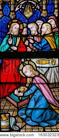 Stained Glass - Jesus Anointed By A Sinful Woman