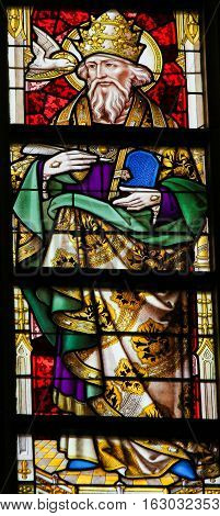Stained Glass - Pope Saint Gregory I