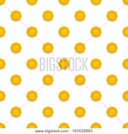 Sun pattern. Cartoon illustration of sun vector pattern for web