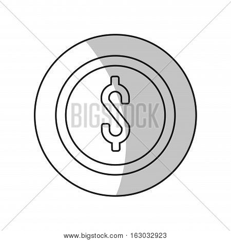 Coin icon. Money financial item commerce and market theme. Isolated design. Vector illustration