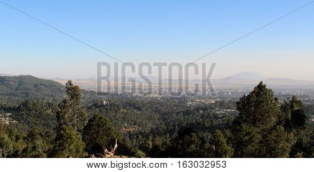 Panoramic view over the city of Addis Ababa, Ethiopia