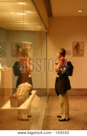 Woman In Museum