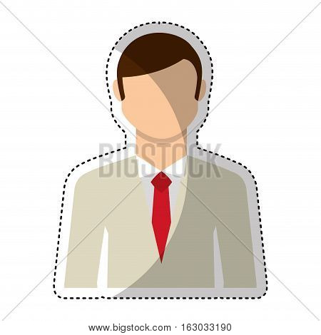 Newly married man character vector illustration design