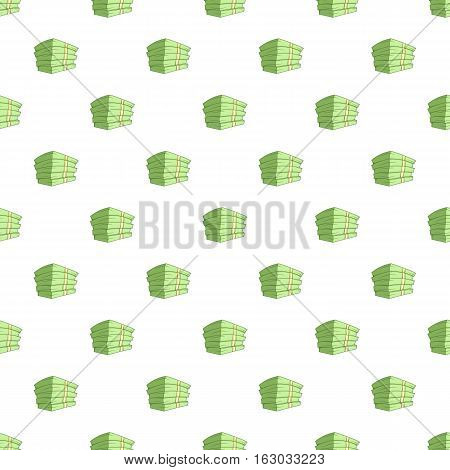 Stack of money pattern. Cartoon illustration of stack of money vector pattern for web
