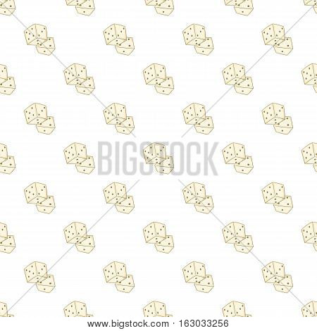 Dice pattern. Cartoon illustration of dice vector pattern for web