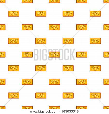 Winning slot machine pattern. Cartoon illustration of winning slot machine vector pattern for web